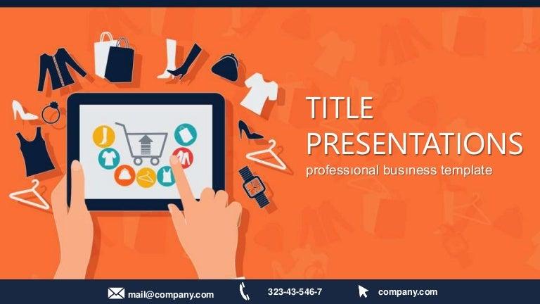 Online shopping powerpoint template maxwellsz