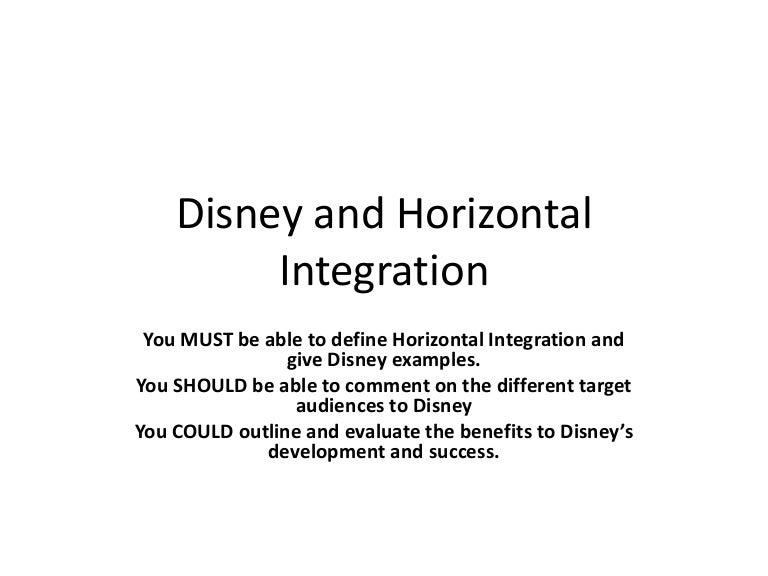 define horizontal intergration