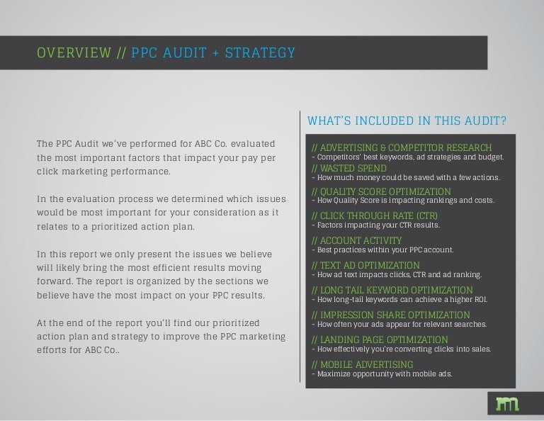 ppc audit sample adwords review from markitors