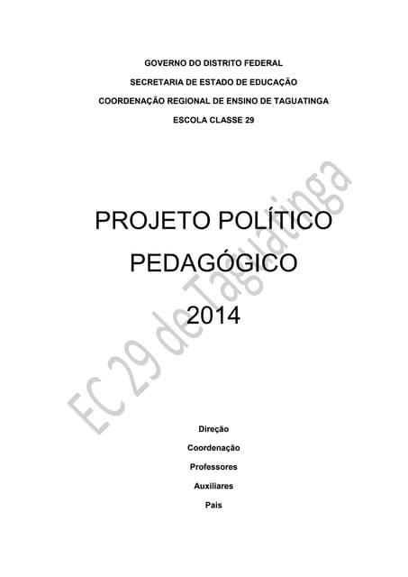 PPP 2014 - EC 29 de Taguatinga