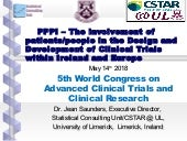 PPPI -  the involvement of patients or people in the design and development of clinical trials within Ireland and Europe