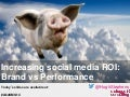Brand vs Performance in Social Media Return on Investment