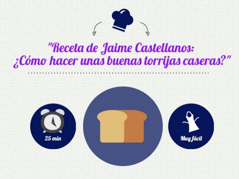 Jaime Castellanos Cómo Hacer Unas Buenas Torrijas Caseras