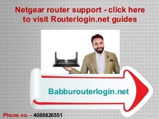 Netgear router support - click here to visit Routerlogin.net guides