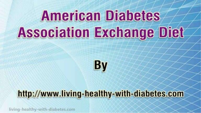 american diabetes association exchange diet