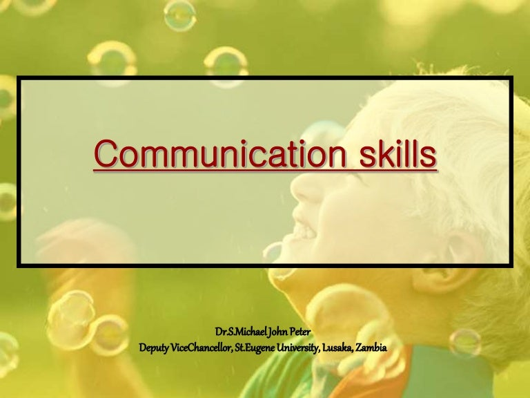 Ppt Communication Skills