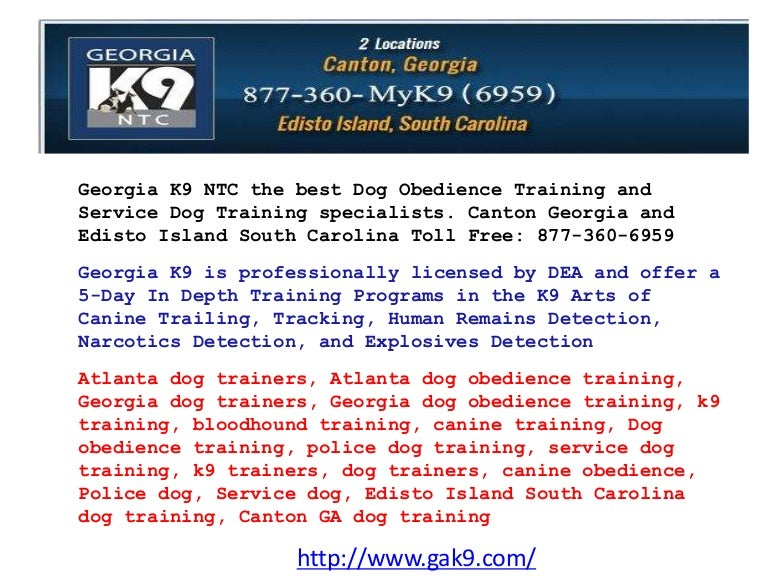 Ppt georgia k9 ntc the best dog obedience training and