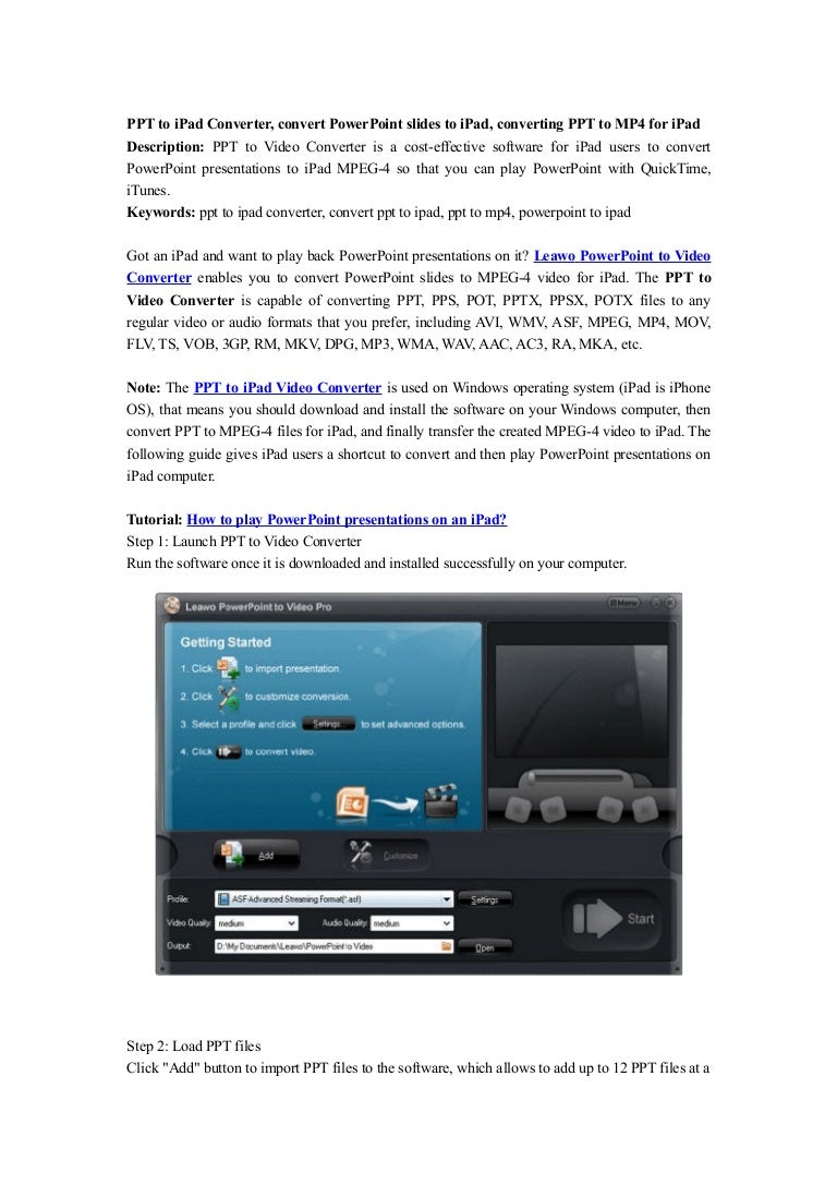 Ppt to ipad converter, convert powerpoint slides to ipad, converting ….
