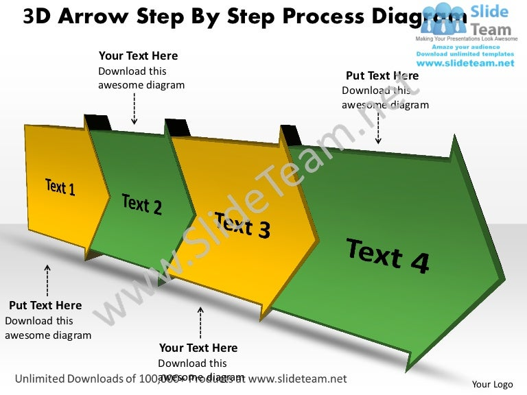 Ppt 3D Arrow Step By Process Spider Diagram Powerpoint Template Busin…