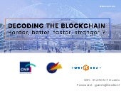 Decoding the blockchain, workshop France Digitale CNP Assurances