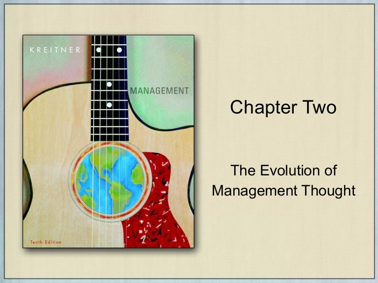explain the evolution of management thought