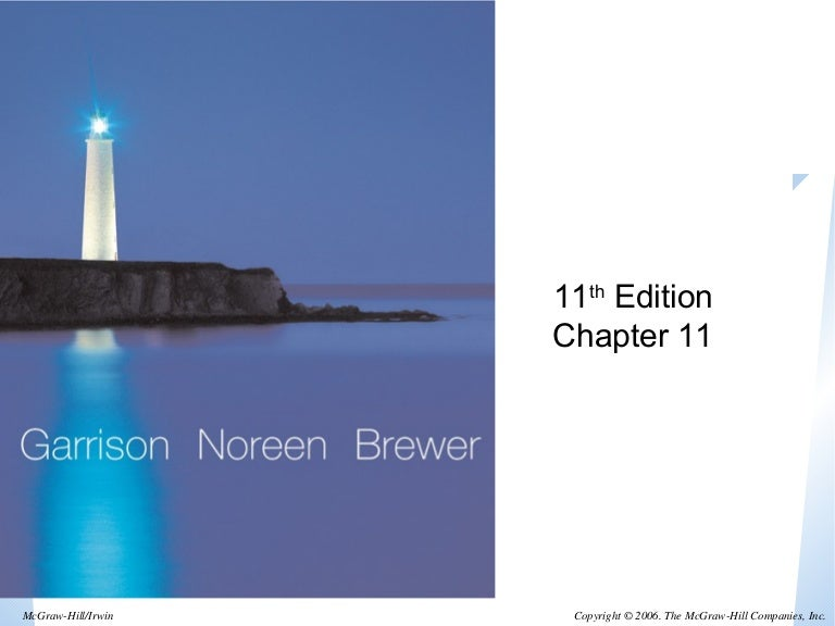 managerial accounting garrison noreen and brewer 13th edition .