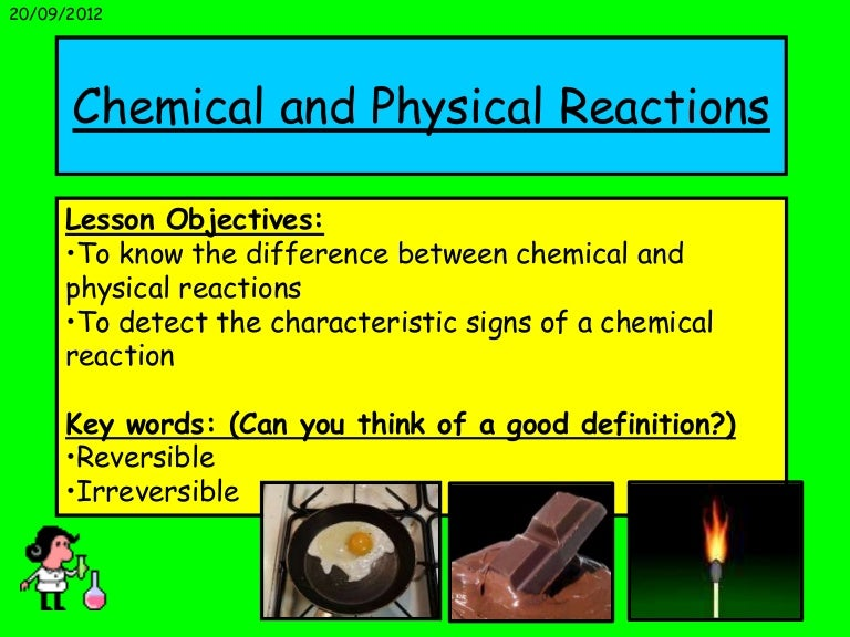 Physical reaction: definition & examples video & lesson.