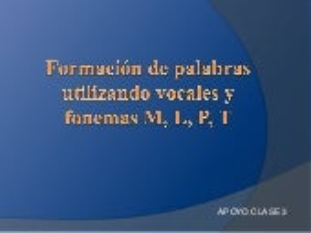 Ppt construcción vocales + letras Clase 3  - NT2