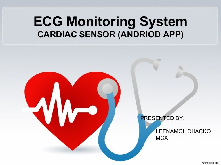 ecg monitoring system, Powerpoint templates