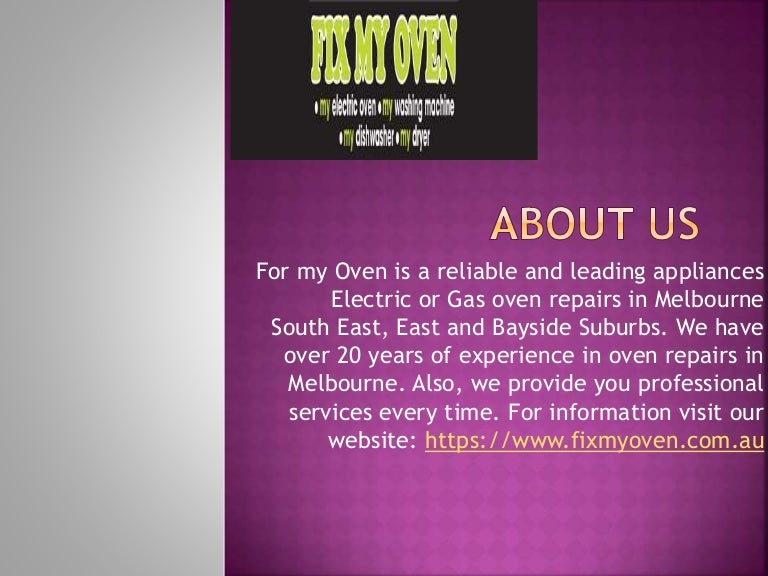 Top Oven Repairs services Melbourne