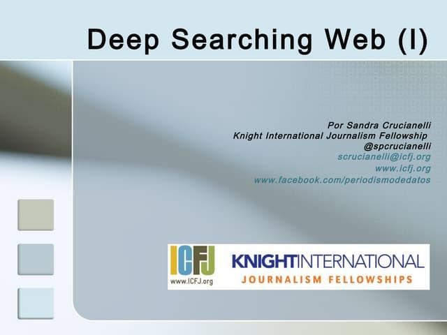Deep Web searching