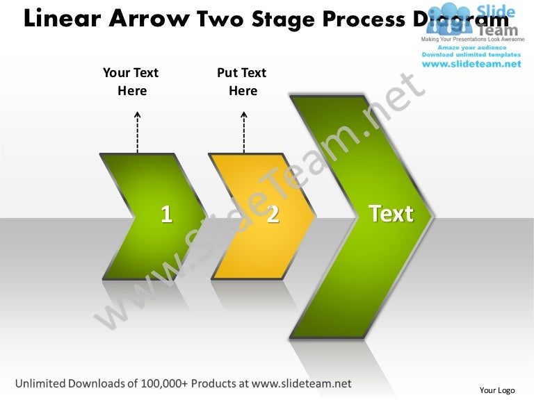 Ppt Linear Arrow Two Stage Process Network Diagram Powerpoint Templat