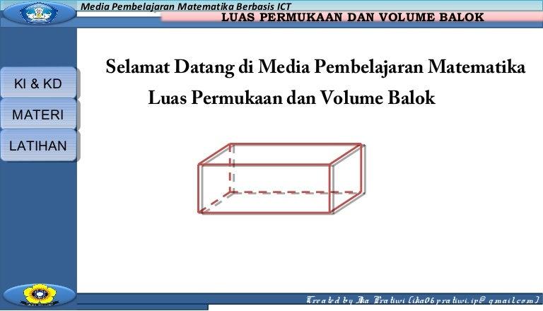 Ppt Luas Permukaan Dan Volume Balok