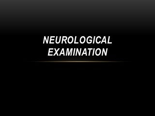 neurological examination ppt
