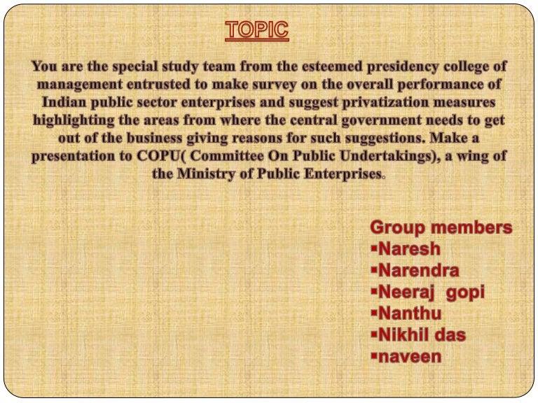 role of public sector in economic development ppt