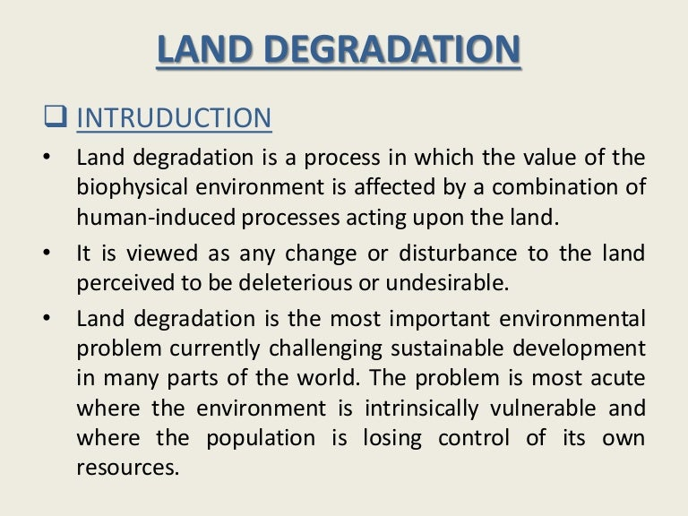 Ppt what is environmental degradation? Powerpoint presentation.