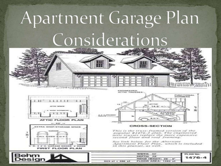 Apartment Garage Plans Considerations By Behmdesign
