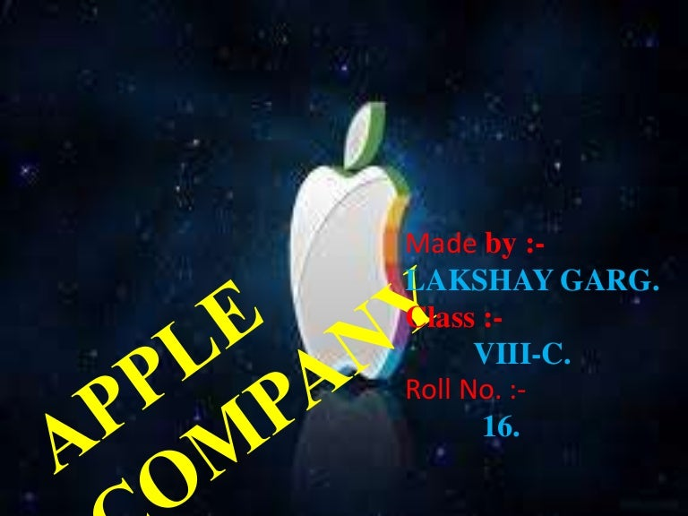 Ppt on apple company