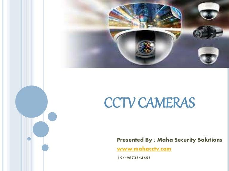 Cctv camera presentation.