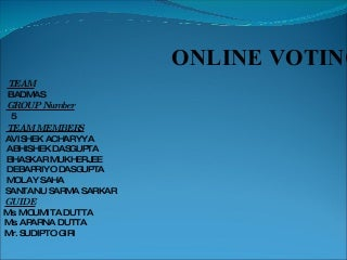 Ppt on online voting