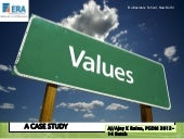 Values - organisational behaviour