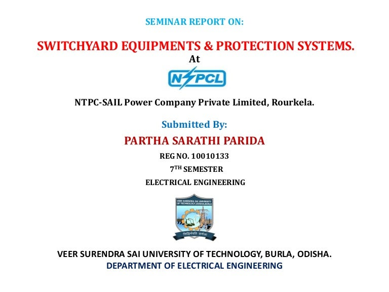 SWITCHYARD EQUIPMENTS & PROTECTION SYSTEMS