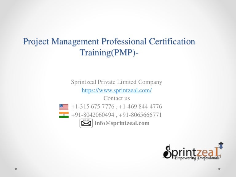 Pmp Training Project Management Professional Training Sprintzeal