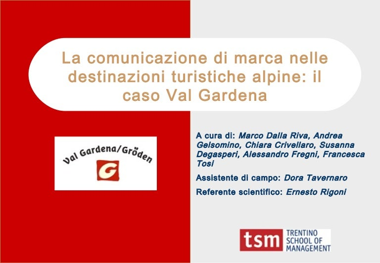 Destination Branding: caso Val Gardena
