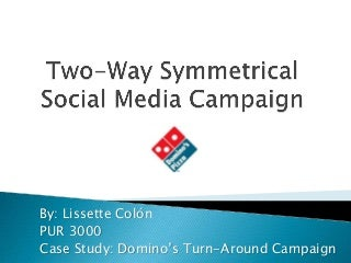 Domino's Pizza TurnAround Campaign