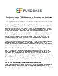 Fundbase Obtains FINMA Approval to Represent and Distribute Foreign Collective Investment Schemes in Switzerland