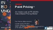 Point Pricing: An Inside Look at PR 20/20's Value-Based Pricing Model (#INBOUND15)