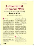Authentizitaet im Social Web (PR-Magazin)