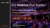 The Metrics That Matter: How to Build Performance-Driven Inbound Marketing Campaigns