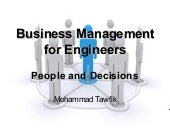 Business Management - People and Decisions