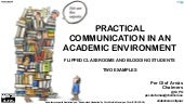 Practical communication in an academic environment - Flipped classrooms and blogging students