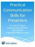 Practical communication skills for presenters