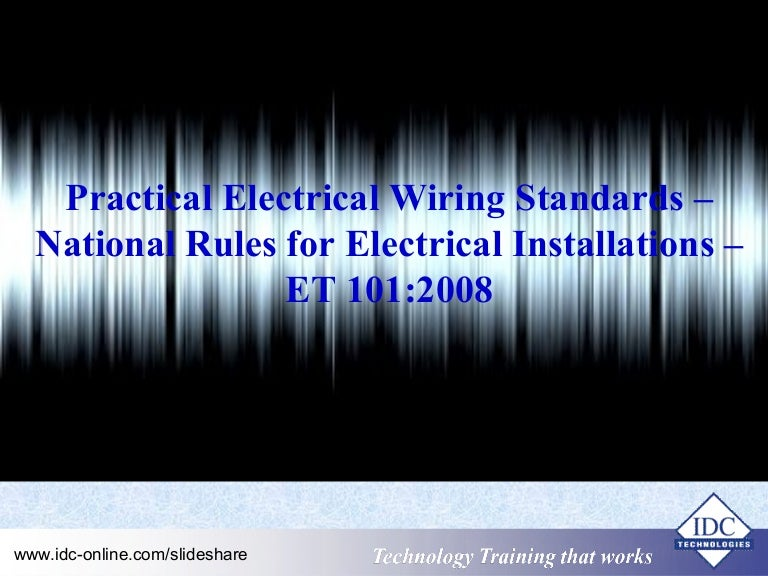 Electrical Wiring Specifications