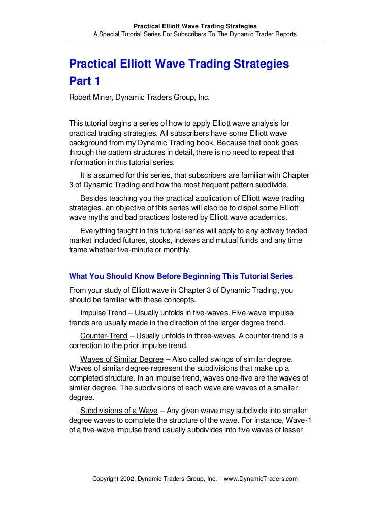 Practical elliott wave trading strategies