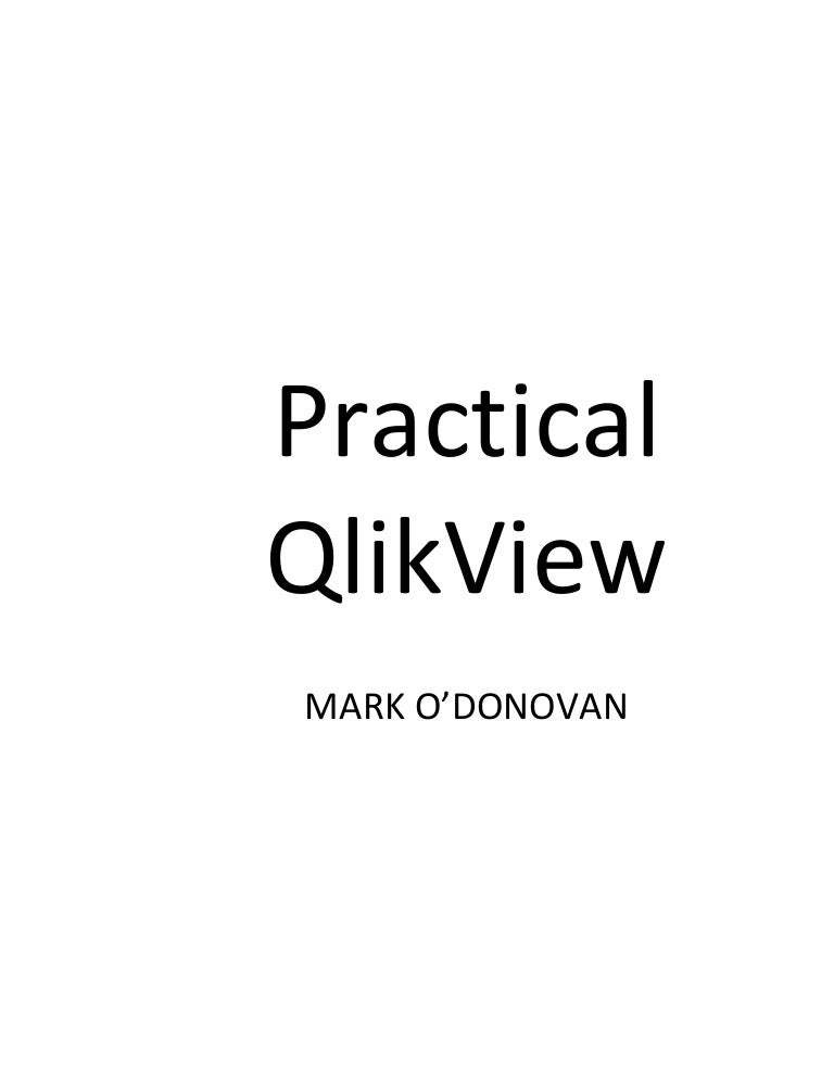 Practical qlikview 25 page sample