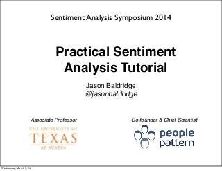 Practical Sentiment Analysis