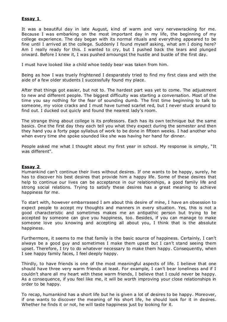 student essay examples of speech