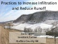 What Practices Increase Infiltration and Reduce Runoff on Slopes Greater Than 30%?