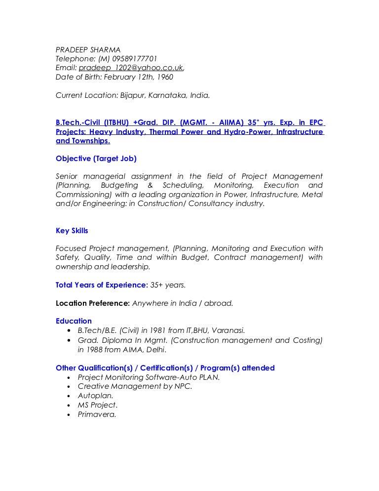 pradeep resume feb 2017