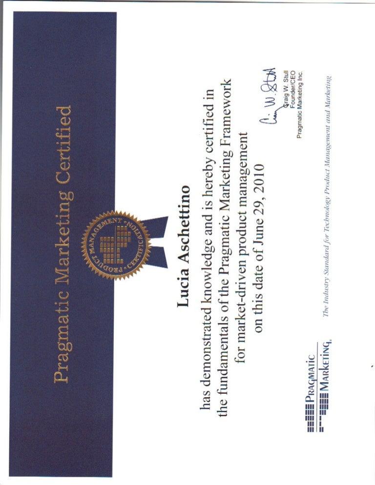 pragmatic marketing framework certificate